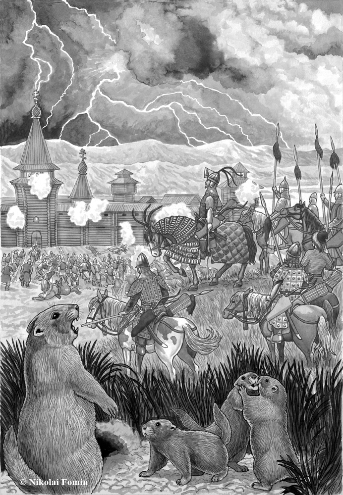 Storming of Krasnoyarsk Fortress by Irenek's troop by Nikkolainen