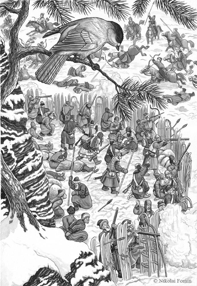 Ivan Galkin and his men defending against Tubinian by Nikkolainen