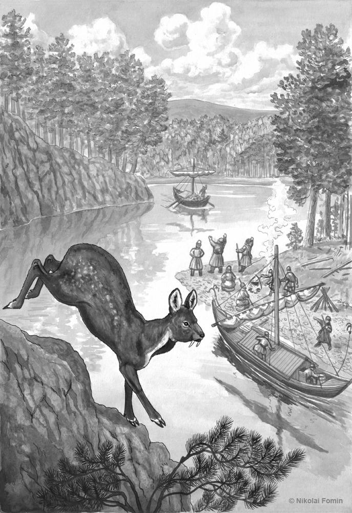 Meeting on Khilok-river. by Nikkolainen