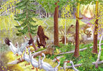 Fat Kol'ket. Illustration for Khanty Fairy Tales.