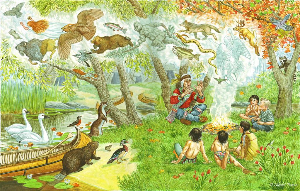 Cover illustration for The New World Fairy Book. by Nikkolainen