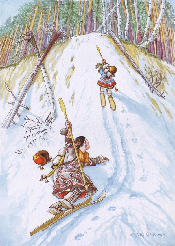 Machenkat. Unsoled skis. by Nikkolainen