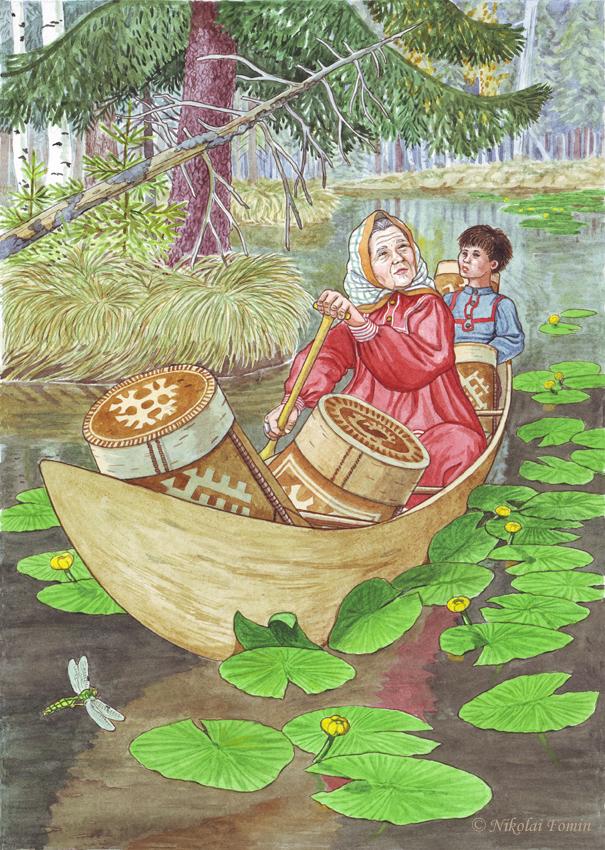 Ide and his grandma Imyal-Paya. by Nikkolainen