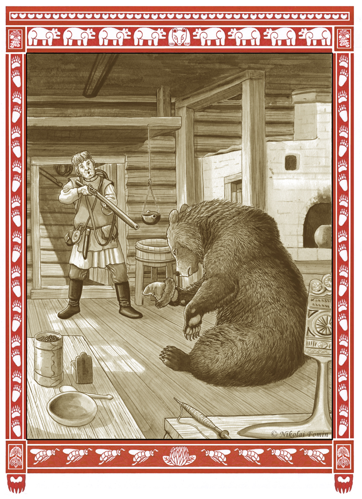 Bear steep-bank. Bride kidnapping. by Nikkolainen