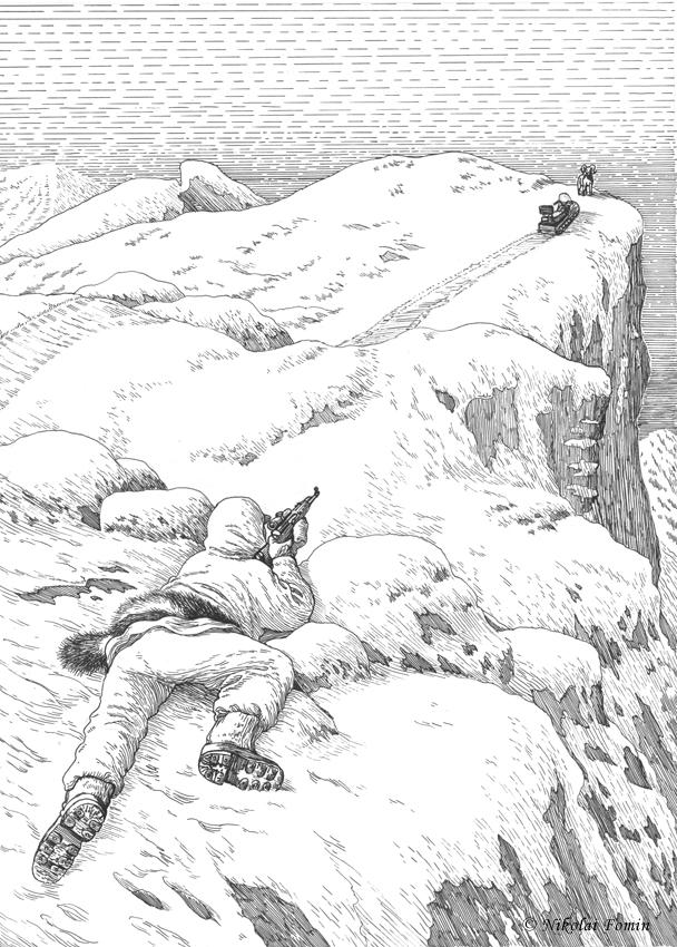 Shooting a snow sheep. by Nikkolainen