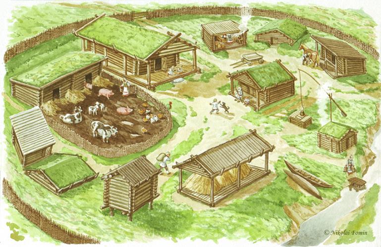 Slav settlement, X c. by Nikkolainen