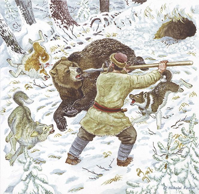 Bear hunting by Nikkolainen