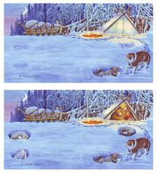 Overnight in snow. by Nikkolainen
