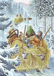 Carrying hay from distant rick. (Siberian song). by Nikkolainen