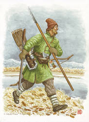 Cossack from The Albazino settlement, 1660-1670s. by Nikkolainen