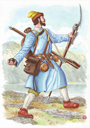 The cossack of Afanasi Beytone's detachment, 1685- by Nikkolainen