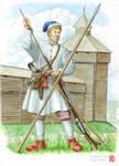 Peasant militiaman, East Siberia, 1680s. by Nikkolainen