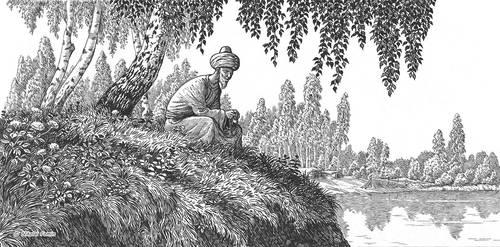 Mirza Istemir meditating.
