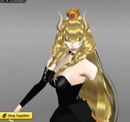 Bowsette-Like Peach. by monstermaster13