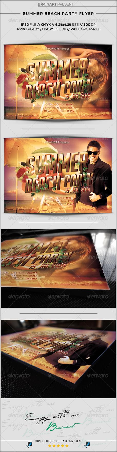 Summer Beach Party Flyer by Hz-designer