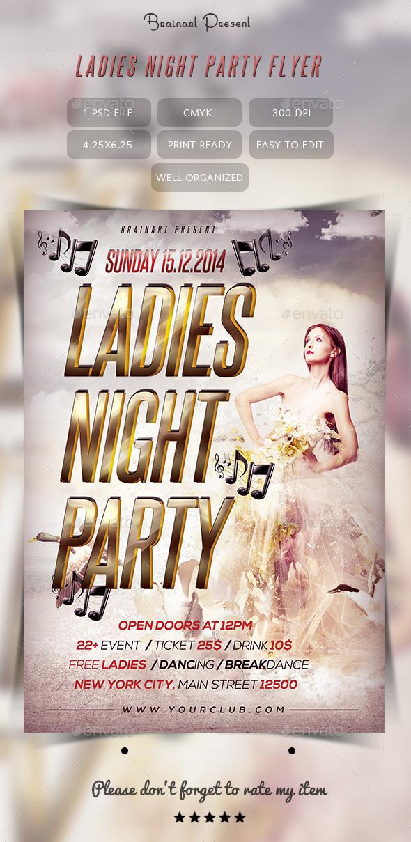 Ladies Night Party Flyer by Hz-designer