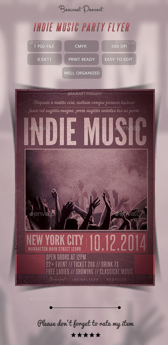 Indie Music Party Flyer by Hz-designer