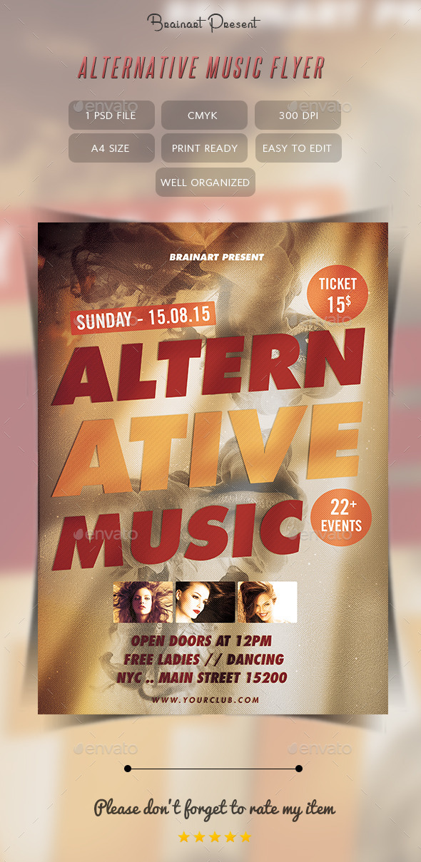 Alternative Music Flyer by Hz-designer