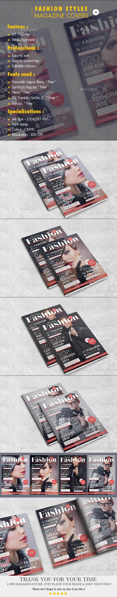 Fashion Styles Magazine Covers V.02 by Hz-designer