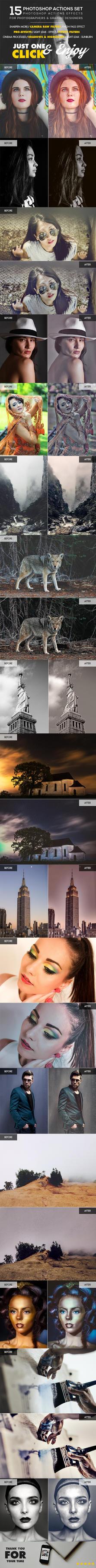 15 Photoshop Actions SET by Hz-designer