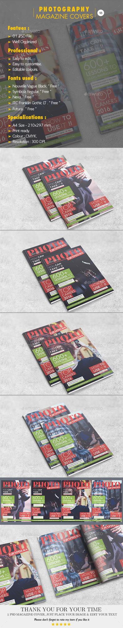 Photography Magazine Covers V.03 by Hz-designer