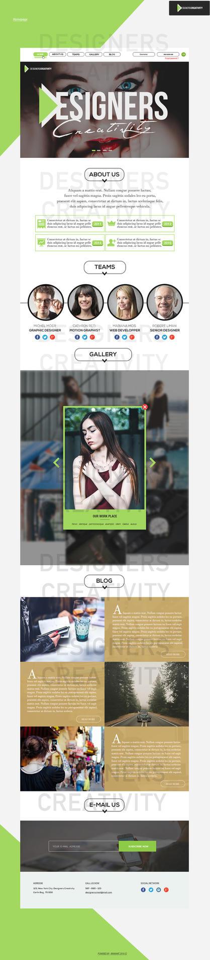 Designers Creativity PSD Tamplate - Homepage by Hz-designer