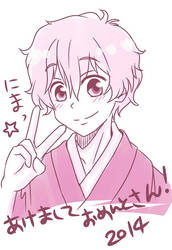 Nagisa_Happy new year by asami-h