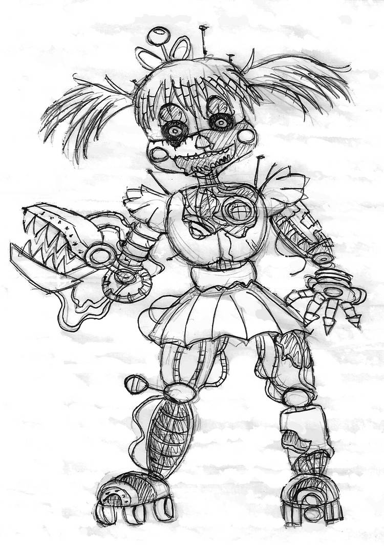 Scrap baby (traditional art) by blackhero87 on DeviantArt
