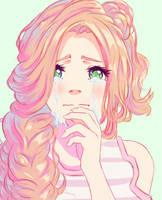 anime portrait by Hibelton