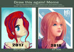 Draw this again! One year of drawing