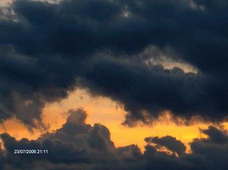 Dark clouds gathering to sky by Nafisan