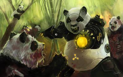Zombie Pandas VS Panda Robots by Raydiant