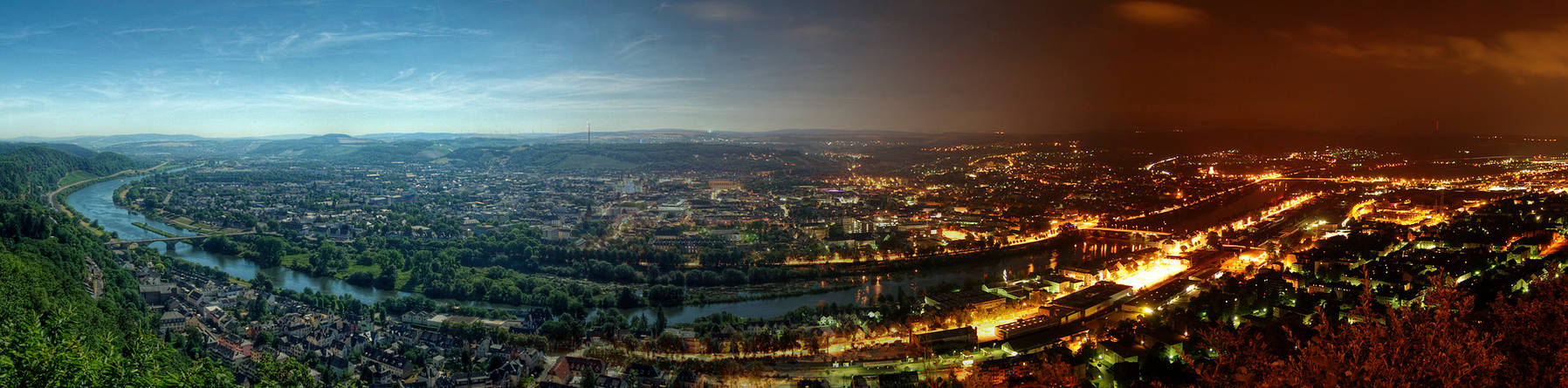 Trier - Day to Night Panorama