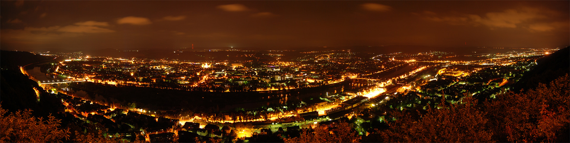 Trier - Night Panorama by 55Laney69