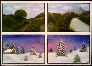 Set of 4 Landscape