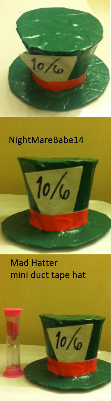 Mad hatter mini duct tape hat by nightmarebabe14 on deviantart for Mini duct tape crafts
