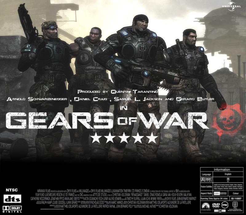 gears of war movie web and graphical design