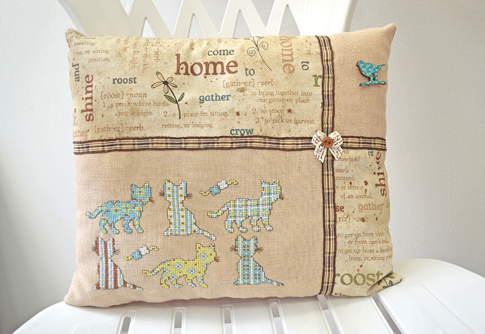 Sweet Home decorative pillow by Ailinn-Lein