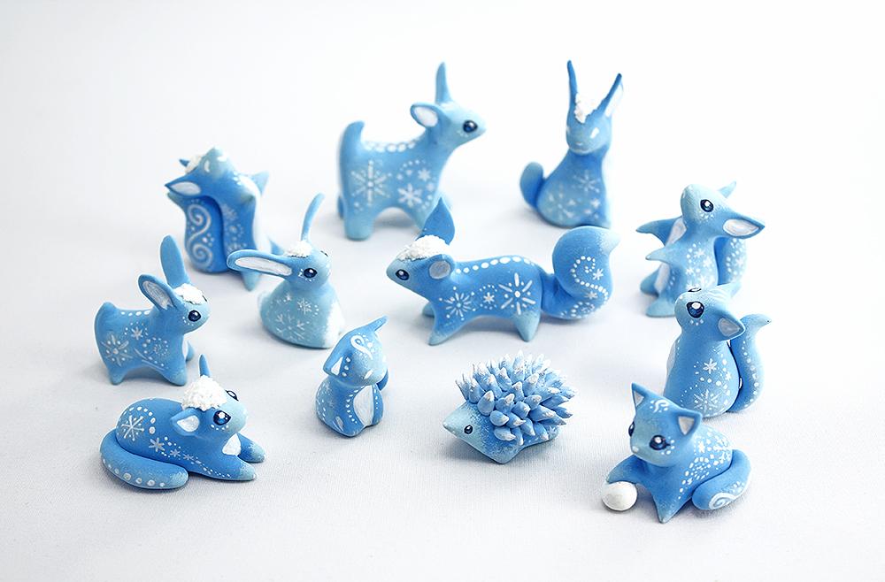 Christmas snow animals by Ailinn-Lein