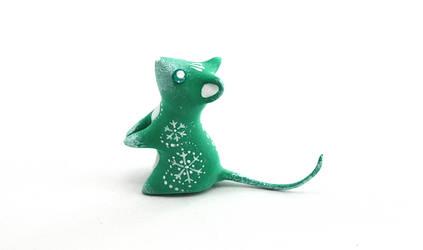 Christmas Tree Mouse by Ailinn-Lein