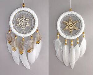 White Snowflake Dreamcatchers