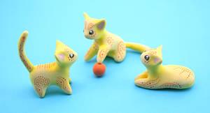 Yellow Sun Kittens by Ailinn-Lein