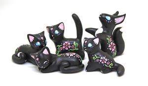Black Floral Animals