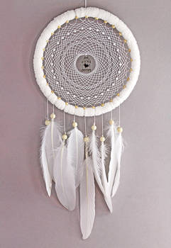 White Birdcage Dreamcatcher