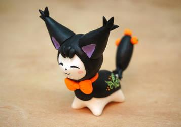 Black Halloween Skitty by Ailinn-Lein