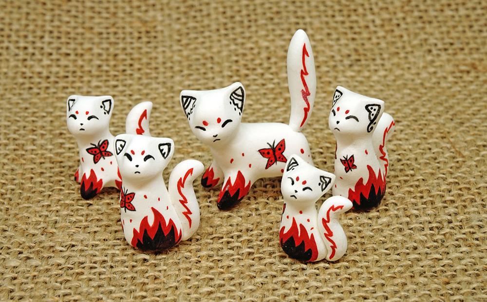 Mini Oriental Kitties by Ailinn-Lein