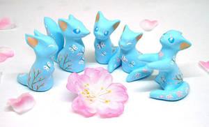 Blue Oriental Animals by Ailinn-Lein