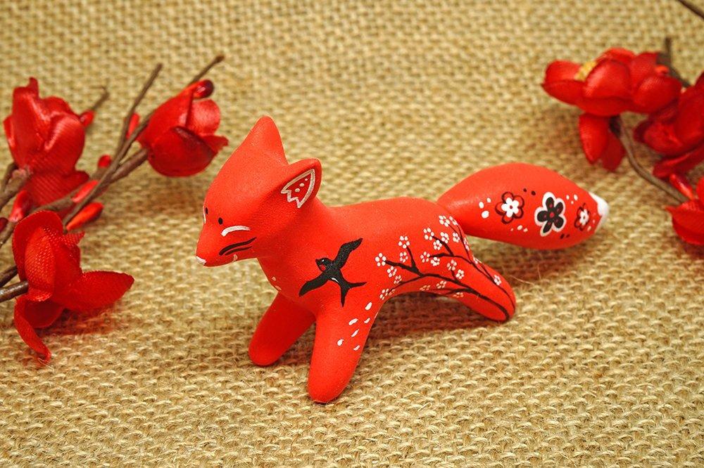 Red Sakura Fox by Ailinn-Lein
