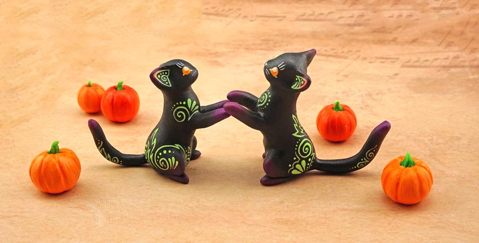 Halloween kitties by Ailinn-Lein