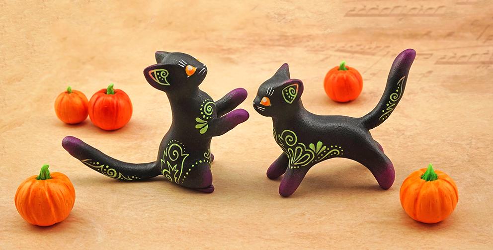 Halloween kitties II by Ailinn-Lein
